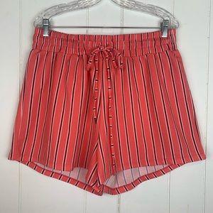 Derek Heart Flowy Shorts 2X Striped